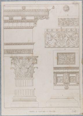 Tempio di Castore e Polluce, dettagli architettonici