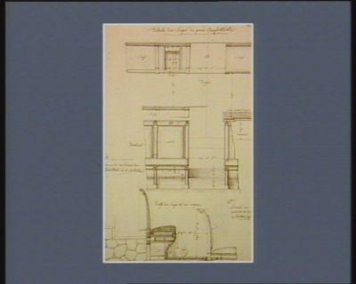 Détails des sièges du grand amphithéâtre [dessin]