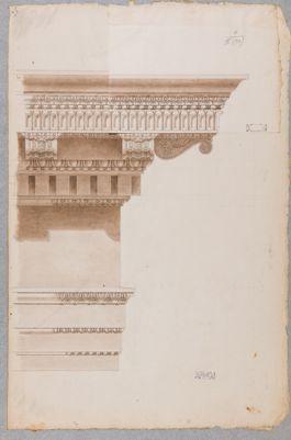 Tempio di Vespasiano, dettaglio del cornicione