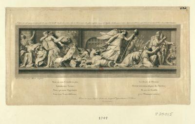 L' Aristocratie et ses agens sont enterrés sous les ruines de la Bastille du sein de ses ruines s'élève la liberté armée d'un glaive et foulant aux pieds l'hydre. .. : [estampe]