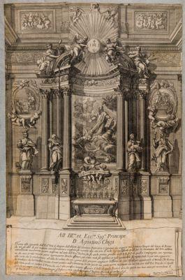 Chiesa del Gesù. S.Cipriani, progetto per l'altare di S. Ignazio