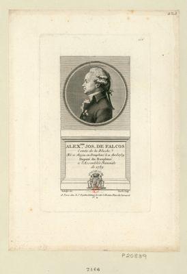 Alex.dre Jos. de Falcos comte de la Blache. Né a Anjou en Dauphiné le 11 avril 1739 député du Dauphiné à l'Assemblée nationale de 1789 : [estampe]