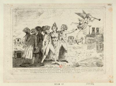 Dédié aux bons citoyens en 1791 la France ramenant les fugitif pour venir jouir en paix du fruit de notre Constitution.. . : [estampe]