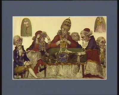 La  Derniere assemblée papale chanson sur l'air Or écoutés petits et grands... : [estampe]