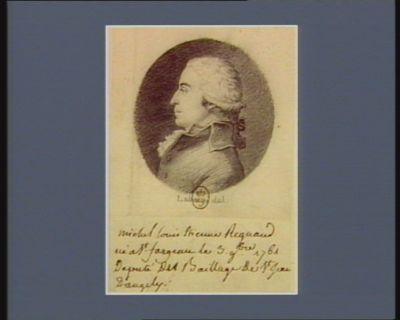 Michel Louis Etienne Regnaud né à St Fargeau le 3 9.bre 1761 député du baillage de St Jean d'Angély : [dessin]