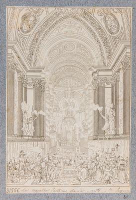 La Cappella Paolina che vi è esposto il SS. Sagramento