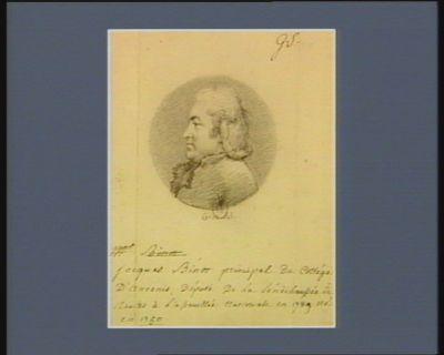 Jacques Binot principal du collège d'Ancenis député de la sénéchaussée de Nantes <em>à</em> l'Assemblée nationale en 1789 né en 1750 : [dessin]