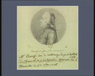 M. Brousse curé de Volkrange député de Metz de Thionville et à l'Assemblée nationale 1789 né à Thionville le 27 7.bre 1735 : [dessin]