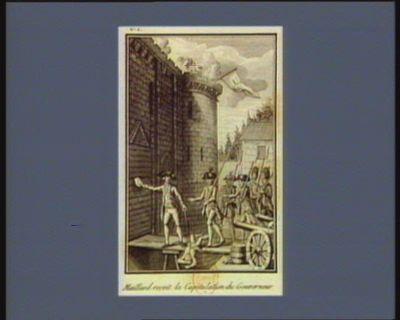 Maillard reçoit la capitulation du gouverneur [estampe]