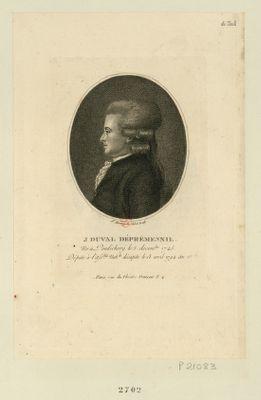 J. Duval Dépremesnil né à Pondichery le 5 decembre 1745, député à l'Ass.blée nat.le décapité le 18 avril 1794 an 2.<em>e</em> : [estampe]