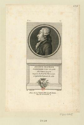 Joseph Maurice comte de Toustain né à Nanci en 1730 depute du bail.e de Mirecourt à l'Assemblée nationale de 1789 : [estampe]