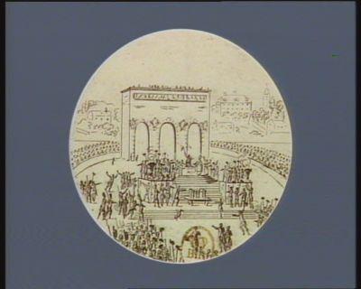 [Fête <em>de</em> la Fédération, au <em>Champ</em> <em>de</em> <em>Mars</em>, le 14 juillet 1790] [estampe]