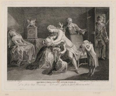 Abschied Ludwigs XVI von seiner familie [estampe]