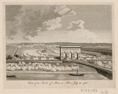 View of <em>the</em> Field of <em>Mars</em> at Paris, July 14, 1790 [estampe]