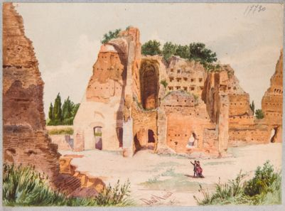 Palatino, resti della Domus Severiana presso lo Stadio