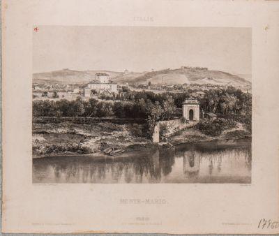 Tevere, veduta con sfondo di Monte Mario