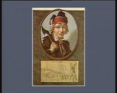 Joseph-Agricol Viala assassiné sur les bords de la Durance le 9 juillet <em>1793</em> (v.s.) à l'âge de 13 ans & quelques mois par des rebelles échappés des murs de Marseille : en mourant il prononça ces paroles sacrées : ils ne m'ont pas manqué, cela m'est égal, je meurs pour la liberté. La Convention nationale a décerné à ce jeune héros les honneurs du Panthéon français : [estampe]