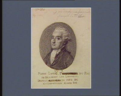 Pierre Long procureur du Roi, de Beaumont lez Lomagne, deputé du pays de Rivière-Verdun Gaure &<em>c</em> : [dessin]
