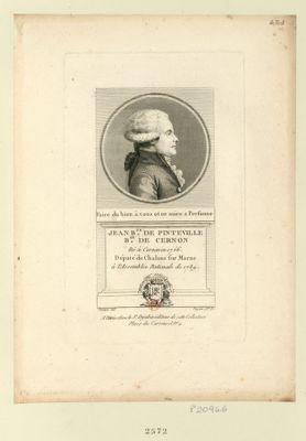 Jean B.te de Pinteville b.on de Cernon : né à Cernon en 1756 député de Chalons sur Marne à l'Assemblée nationale de 1789 : [estampe]