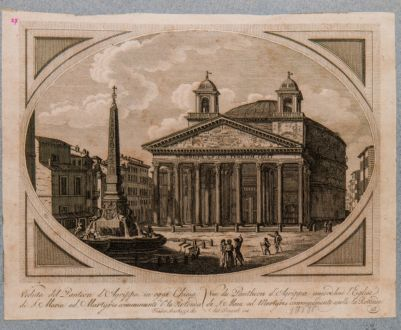 Veduta del Panteon d'Agrippa