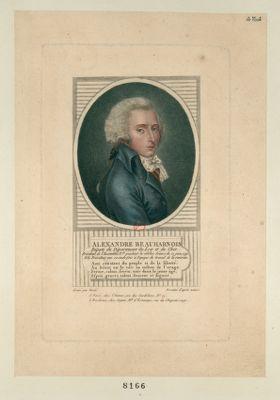 Alexandre Beauharnais député du département du Loir et Cher. Président de l'Assemblée n.ale pendant la célèbre séance du 21 juin 1791. Elu président une seconde fois à l'époque du travail de la revision : [estampe]