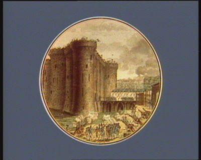 Prise de la Bastille, le 14 juillet 1789 vue de la facade de l'entrée [estampe]