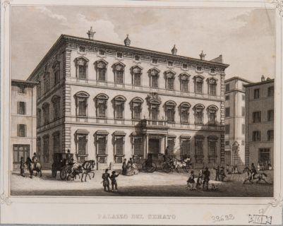 Palazzo Madama. Prospetto e vista della piazza