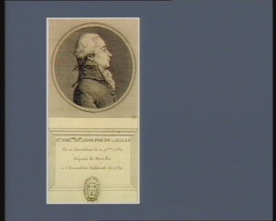 N.as The.ore Anne Adolphe de La Salle né à Sarrelouis le 11 9.bre 1762. député de Metz &<em>c</em> à l'Assemblée nationale de 1789 : [estampe]