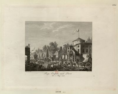 Freye Einfuhr nach Paris den 1 <em>May</em> <em>1791</em> : [estampe]