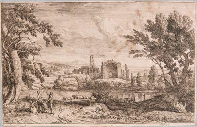 Tempio di Venere e Roma, veduta del Tempio e Convento