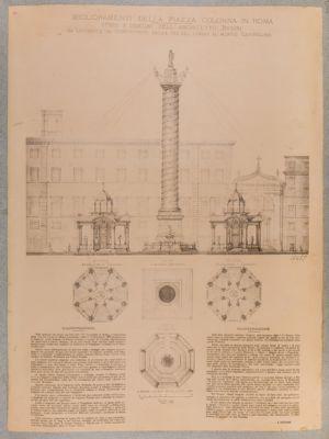 Piazza Colonna, progetto di sistemazione