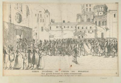 Pompe funèbre du convoi de Mirabeau aux grands hommes la <em>nation</em> reconnaissante : [estampe]