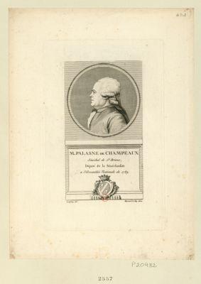 M. Palasne de Champeaux sénéchal de St Brieux, député de la sénéchaussée a l'Assemblée nationale de 1789 : [estampe]