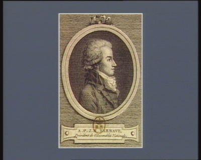 A.P.J.M. Barnave, président l'Assemblée nationale [estampe]