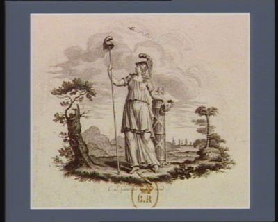 [Allégorie révolutionnaire Minerve appuyée à un faisceau tient au bout de sa pique le bonnet de la liberté] : [estampe]