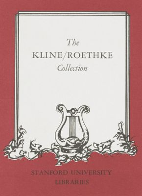 The Kline/Roethke Collection