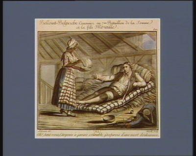 Belloint-Belperche canonnier au 7.me bataillon de la Somme et la fille Moraille ah ! sans vous, citoyenne à jamais estimable, j'expirois d'une mort douloureuse. Le 7 brumaire an III : [estampe]
