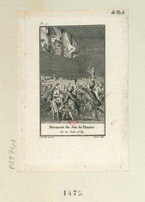 Serment du <em>Jeu</em> <em>de</em> <em>Paume</em> le <em>20</em> juin <em>1789</em> [estampe]