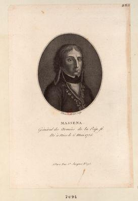 Massena Général des Armées de la Rép. fr. Né à Nice le 6 Mai 1756 : [estampe]