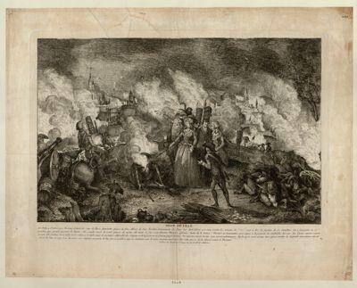 Siege de Lille le jeudy 4 octobre <em>1792</em> Christine d'Autriche soeur de Marie Antoinette, épouse du duc Albert de Saxe Teschen... : [estampe]
