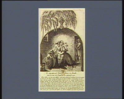 La  Séparation de Louis XVI d'avec sa famille dans la tour du Temple le 29 septembre 1792 [estampe]