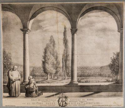 Gran chiostro della Certosa di Roma