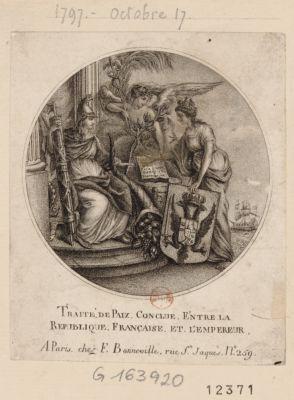 Traité de paix conclue entre la Republique française et l'Empereur [estampe]