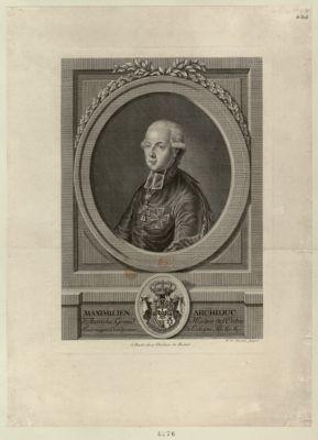 Maximilien archiduc d'Autriche, grand maitre de l'ordre britannique [estampe]