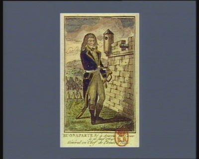 Buonaparte né à Ajaccio <em>en</em> Corse le 15 aout 1769. général <em>en</em> chef de l'armée d'Italie : [estampe]