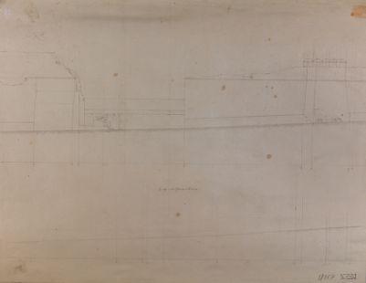 Mura Lateranensi, tratto verso porta Maggiore (cadute il 4 aprile 1853)