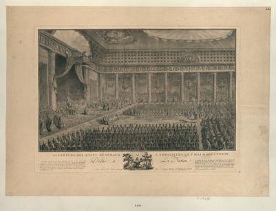 Ouverture des Etats généraux à Versailles le V Mai M.DCC.LXXX.IX dédié à la nation : [estampe]