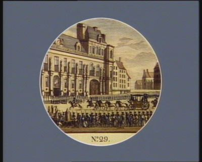 N.o 29 17 dito. Le Roi se rendant <em>à</em> l'Hotel de Ville <em>à</em> Paris... : [estampe]
