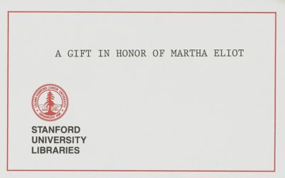 A Gift in Honor of Martha Eliot