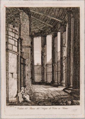 Tempio di Vesta, peristilio e porta